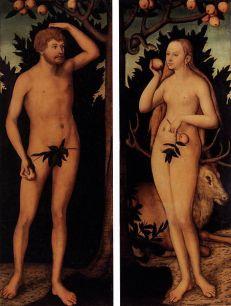"Lucas Cranach d.y. ""Adam och Eva"""