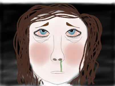 Porträtt i sketchbook