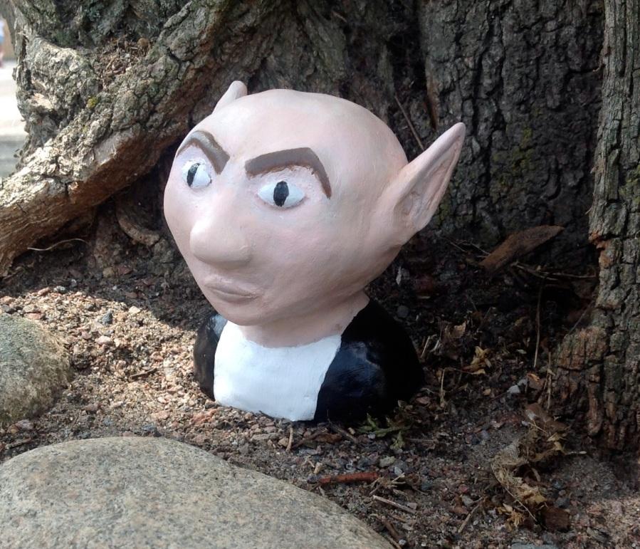 Skulptur skapad av elev i sjuan.