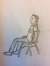 Teckning av klasskompis på 5 minuter