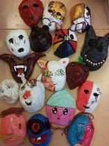 Masker i papier maché