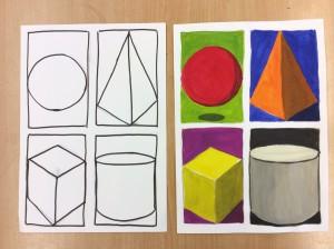 Geometriska former och komplementfärger