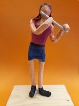 Modell med flöjt