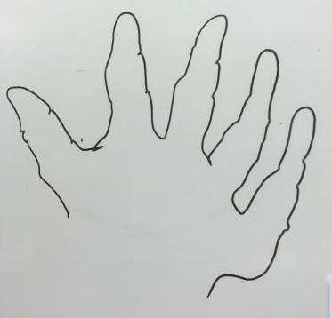 Handen utan att titta på pappretJPG
