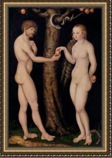 Adam och Eva av Cranach