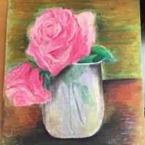 Blomma med pastell