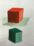 kub med skugga