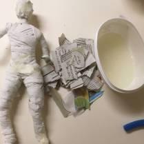 Skulptur av paier maché