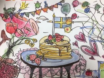 Doodle på tema fest